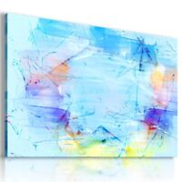 PAINTING BLUE WATER ABSTRACT PRINT CANVAS WALL ART PICTURE AB764  MATAGA