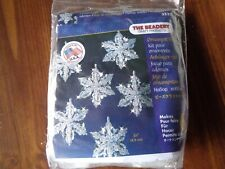 """(Snow Crystals 3.5"""" Makes 6) - Holiday Beaded Ornament Kit. Beadery. Best"""