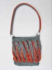 Pop Top Aluminum Soda Pop Can Pull Tab & Crochet Purse, Recycled Handbag