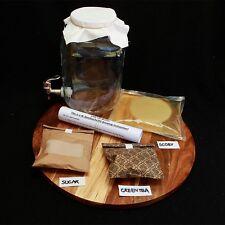 4L Kombucha Scoby Complete Starter Kit with 4 Litre glass Jar/Dispenser, Tap