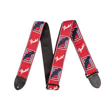 "FENDER 2"" Monogrammed Strap Red-White-Blue / Gitarrengurt / Nylon"