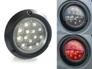 International Scout 80 800 Clear LED Stop/Turn/Tail Light Lens w/Texture Housing