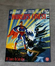 Worlds Finest 1990 Superman Batman Steve Rude Painted DC Comics PROMO Poster VF