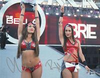 THE BELLA TWINS SIGNED SEXY AUTO WWE 11x14 PHOTO BAS COA BECKETT BRIE NIKKI  1
