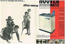 A- Publicité Advertising 1961 (2 pages) La Machine à laver Hoover Hoovermatic