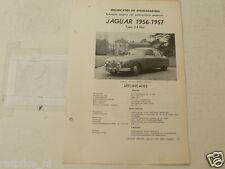J05--JAGUAR 2,4 LITER SALOON 1956-1957 ,TECHNICAL INFO CAR VINTAGE OLDTIMER