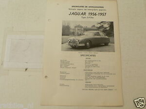 J05--JAGUAR 2,4 LITER SALOON 1956-1957 ,TECHNICAL INFO CAR VINTAGE OLDTIMER