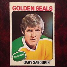 1975-76 O-Pee-Chee OPC Set GARY SABOURIN #299 CALIFORNIA GOLDEN SEALS - NMINT