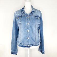 Soho New York & Company Distressed Denim Jean Jacket Womens Plus Size XXL