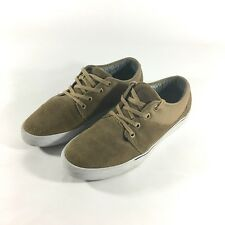 Globe Mahalo Mark Appleyard Mens 8 Brown Suede Leather Shoes Skate Laces