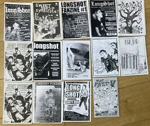 PUNK FANZINE JOB LOT, 14 ISSUES, LONGSHOT,JERK STORE, RUM LAD, SWEET SHOP,2000s