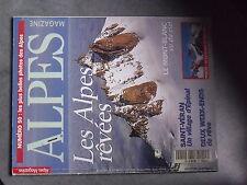 $$ Revue Alpes Magazine N°50 Saint-Veran  Mont-Blanc vu du ciel  peinture