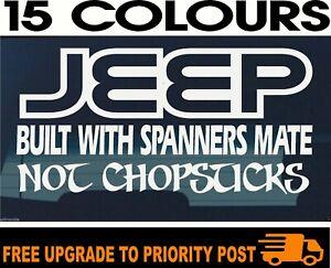 JEEP funny DECAL BUILT wrangler cherokee jk tj patriot renegade Sticker