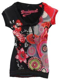 Desigual Damen Bluse Top Shirt Gr.XXL (DE 46) mit Muster Mehrfarbig 117485