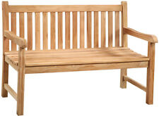 "51"" L Erminio Bench Unfinished Solid Teak Wood Natural Indoor Outdoor Use"