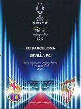 La UEFA Super Copa programa 2015 Sevilla / Barcelona