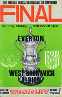 1968 FA CUP FINAL - EVERTON v WEST BROM