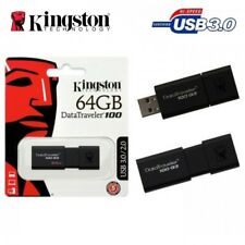 Kingston 64GB USB 3.0 STICK SPEICHERSTICK 100MB/s super schnell WOW NEUWARE