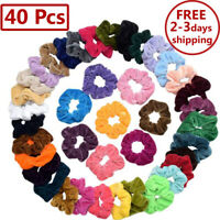 40 Pcs Hair Scrunchies Velvet Elastics Hair Ties Scrunchy Bands Ties Ropes Gifts