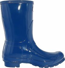 Womens Hunter Original Short Gloss Wellingtons Snow Winter Rain Boots US6