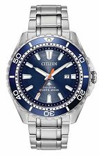 BRAND NEW CITIZEN ECO-DRIVE PROMASTER DIVER BLUE DIAL BEZEL STAINLESS BN0191-55L