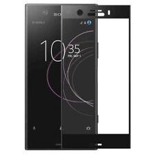 FULL verre blindé 0,26 mm fin H9 Noir pour Sony Xperia XZ1 compact Étui NEUF