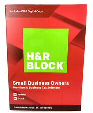 H&R Block Premium & Business Tax Software for Windows 2019