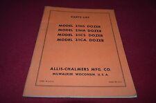 Allis Chalmers 21HS 21HA 21CS 21CA Dozer Dealer's Parts Book DCPA6