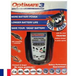 Optimate 3 Chargeur de batterie 12 V (volts) TecMate - Tec Mate - moto auto quad