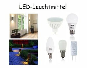 LED Leuchtmittel  E14, GU10, G4, G9, MR16, GU 5,3 z.T. dimmbar/nicht dimmbar