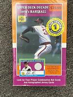 2001 Upper Deck Decade 1970's Baseball Factory Sealed Hobby Box 8 Pack