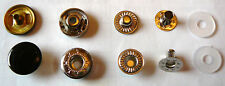 Set of 10 SNAP Fasteners shiny black button 50 piece set FREE shipping