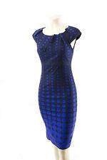 KAREN MILLEN VERY RARE NAVY & BLUE POLKA DOT PRINT FITTED DRESS 12 BNWT