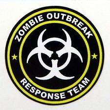 3 - Zombie Outbreak Response Team Tool Box Hard Hat Helmet Sticker Yellow H123