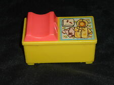 Fisher Price Little People Vintage Baby Changing Table Yellow