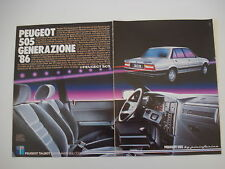 advertising Pubblicità 1985 PEUGEOT 505 GTD TURBO