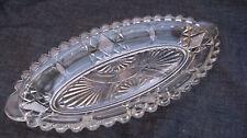 1893 Antique Pressed Glass Prism Arc XLogs Relish Dish