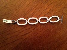 TI SENTO Bracelet en argent 4 anneaux céramique blancs  NEUF