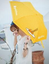 Sanrio Gudetama ぐでたま Kawaii Egg Three Folding Umbrella for Sun/Rain/Wind