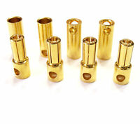 Goldstecker 2mm 3,5mm 4mm 5,0mm 5,5mm 6,0mm 8,0mm Hochstrom Stecker 2 4 5 10 20