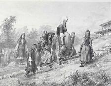Auguste Raffet (French 1804-1860) Lithograph Retour De La Fontaine
