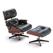 Reac Japan Design Interior Collection 1/12 Eames Lounge Ottoman Miniature Chair