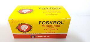 FOSKROL ENERGY Vitaminas Para el Cerebro Y Nervios liquido 10 Vials .5oz each