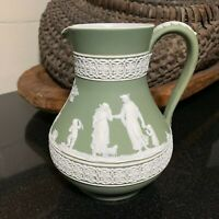 "Early 20th Century Wedgwood Jasperware Sage Green 6"" Jug or Pitcher England"