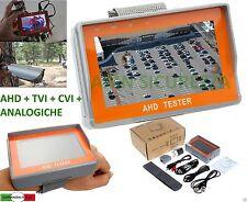 """TESTER MONITOR TFT 4,3"""" TELECAMERE AHD TVI CVI CVBS DA POLSO USCITA 12V UTP"""