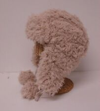 New Beige Faux Fur Earflap Trapper Bomber Trooper Winter Ski Hat Cap Warm Soft