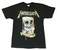 Metallica Soiree Pushead Skull Death Magnetic 2009 Tour Black Shirt New Official
