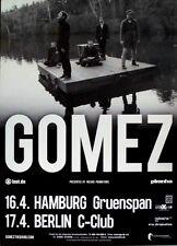 GOMEZ - 2012 - Konzertplakat - Whatever's On Your Mind - Tourposter - Hamburg