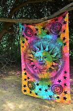 Tapestry Sun Wall Hanging Hippie Moon Indian Bedspread Psychedelic Zodiac Decor