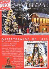 BUSCH 1415 H0, Ortspyramide / Weihnachtspyramide, Bausatz, Neu